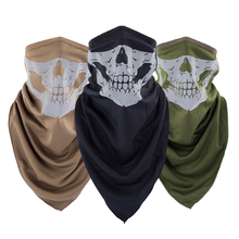 Camo Half Face Mask Balaclava or Triangular Scarf Reflective Polyester Fabric Motorcycle or Bicycle or Tactical