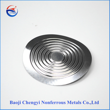 Tantalum flat metal diaphram for pressure