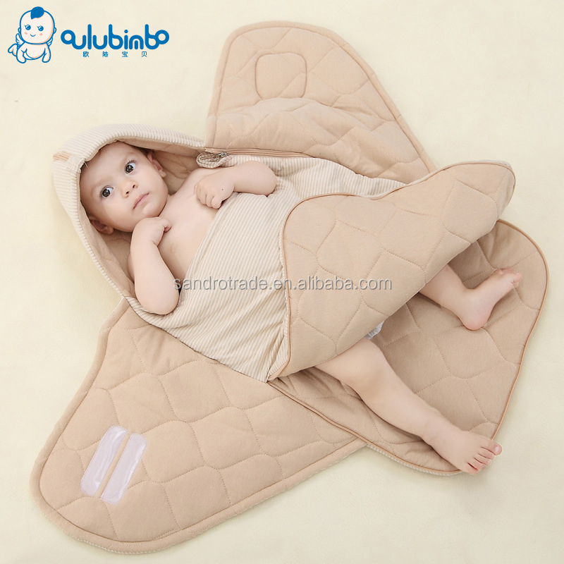 Amazon Best Selling high quality newborn sleeping bag100% cotton baby clothing