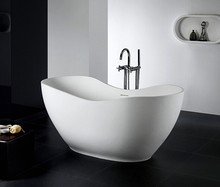 Artificial stone bathtub, free standing solid surface bathtub