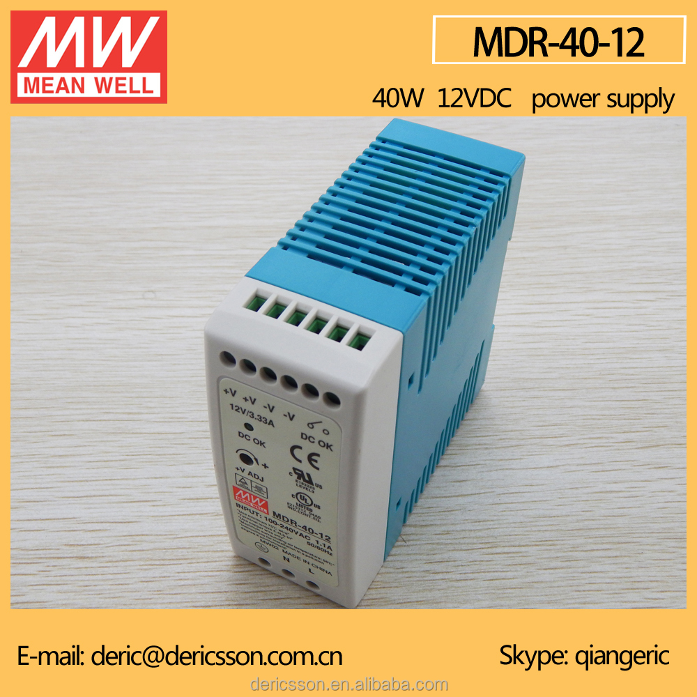 MEAN WELL Din Rail 12V 3A Switch Power Supply 40W MDR-40-12