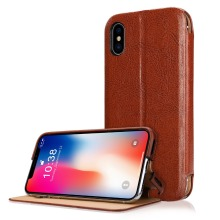Stand Feature Double Layer Shock Absorbing Premium Soft PU Color matching Leather Wallet Cover Flip Cases For apple iPhone X