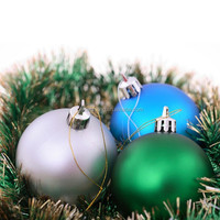 Big Plastic Christmas Decoration Ball 24pcs/Box Multi Colors for Sri Lanka