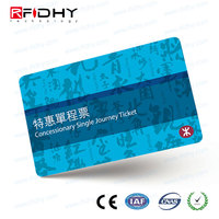 13.56MHz RFID Multiple-use Ticket Infineon SLE66R01L Paper Airline card