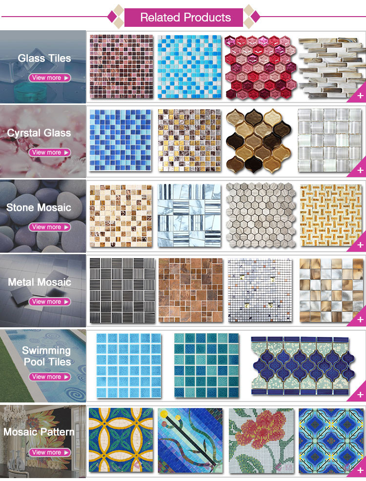 Factory Price Easy Clean Crystal Glass Mosaic Tile Dubai