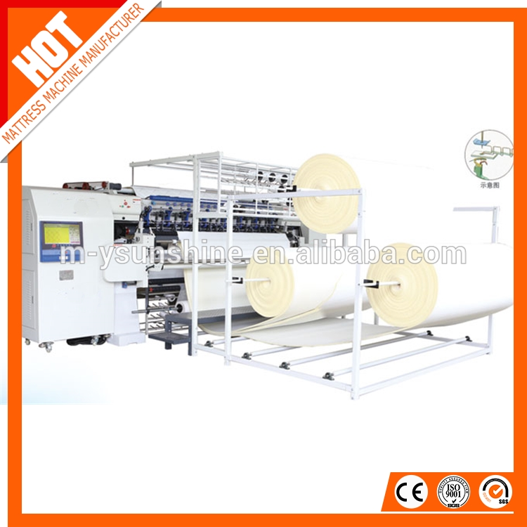 SS-94-3WSG Hot sale High speed computerized multineedle chainstitch quilting machine,mattress cover sewing machine