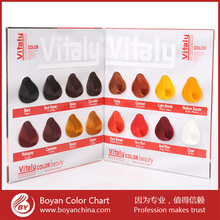 Free sample hair color swatch,hair color shade chart for salon