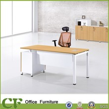 CF-D10310-1 steel frame work desk frame with white modesty panel and fixed pedestal