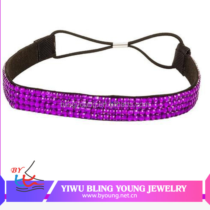 Hot selling stretch elastic rhinestone headbands BY-3120