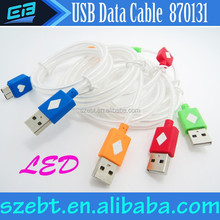 Neon light cable, neon usb cable for Samsung,HTC, 5 pin micro usb cable for Samsung S4