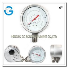 All SS differential industrial pressure gauges