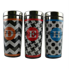 Double Wall Plastic Insulated Coffee Mug With Paper Insert