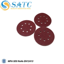 Round Alumina Oxide customized holes sanding disc
