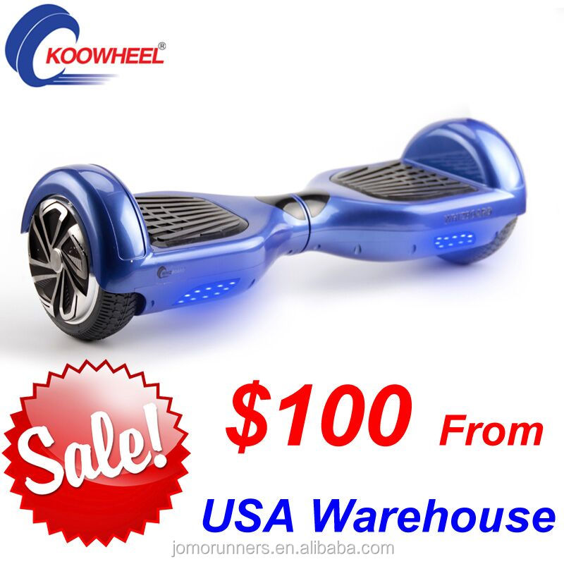 Newest 2 wheel Electric Smart Self Balance Scooter With LED Light bluetooth hoverboard with samsung battery