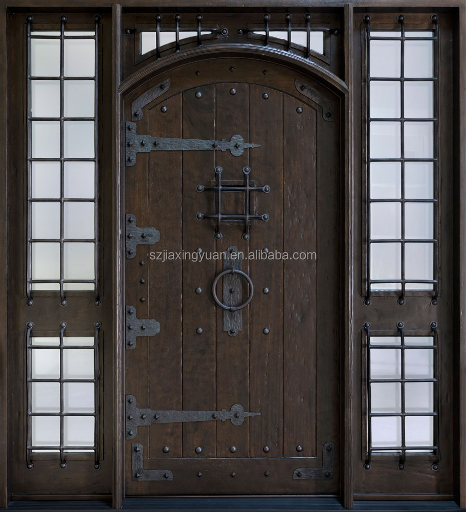 Lowes exterior double open solid wood door buy double for Solid wood exterior doors for sale