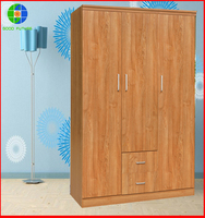 two self-owned factories manufacturer wholesale cheap wooden bedroom wardrobe designs