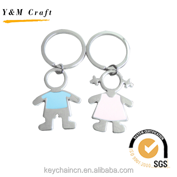 Promotional Souvenir Wedding Couple Metal Human Key Chain Supplier