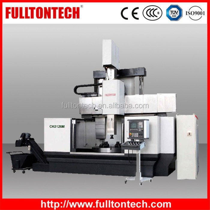 CK51-M Vertical Turret Single Turret Big Table CNC Automatic Lathe Live Tooling