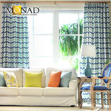 Monad Modern Geometric Printed Linen Window Curtain Design For Living Room