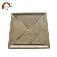 beech wood tangram jigsaw puzzle game toy
