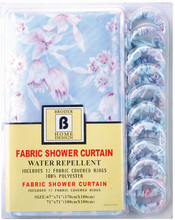 Fancy folding polyester shower curtain