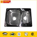 990A Best quality double basin apron front sink