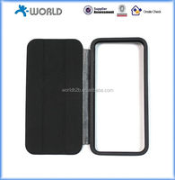 Black TPU Bumper with Smart Flip Case for iPhone 5S with Stand
