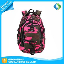 Custom your own fashionable color life school bags camo backpack