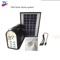 *10w 7Ah Portable Home Solar Lighting System Kit Camping Lantern with 2pcs led bulb