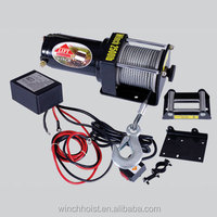 CE certification DC 12V motor 2500lb portable electric winch