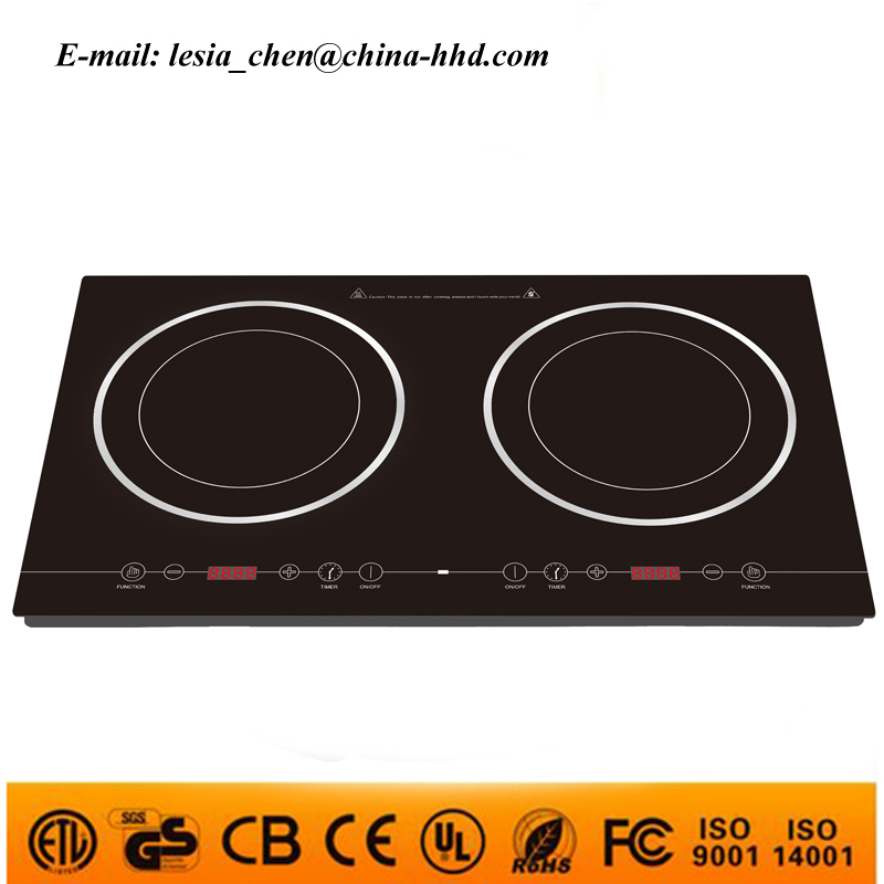 2016 High Quality Push button double induction cooker infrared stove