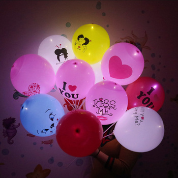 New Arrival Factory Direct Cheapest Hot Selling Dot Latex Led Balloon Wedding Decoration LED Balloon