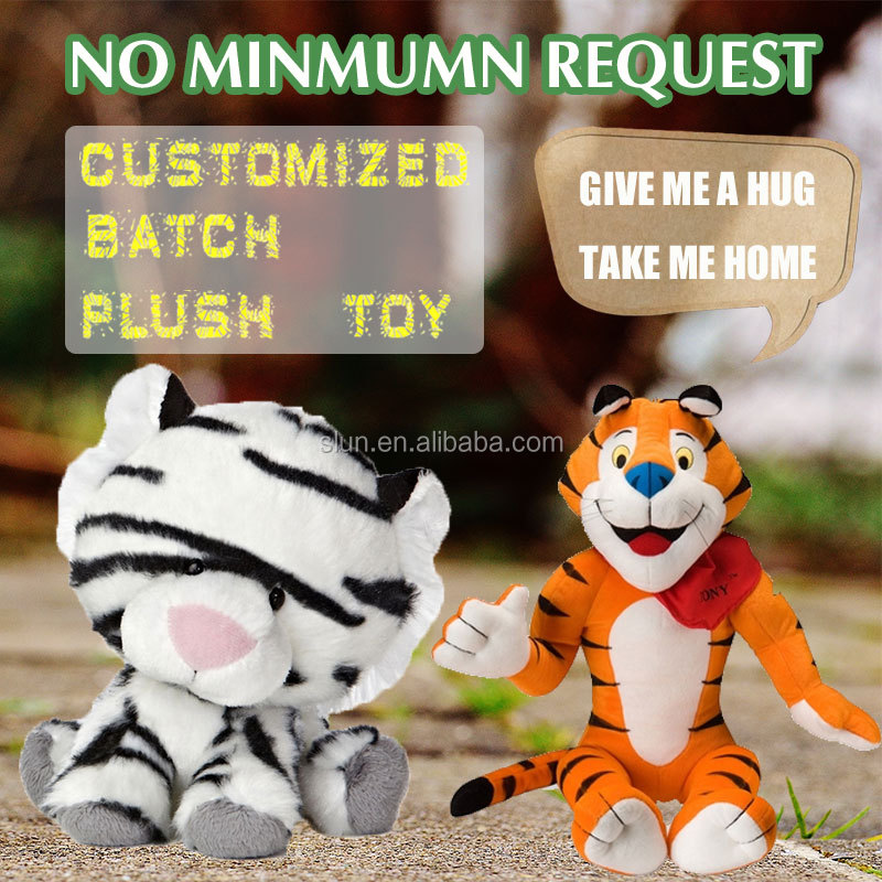 lovely tiger plush toy/small tiger stuffed toys/custom tiger toy