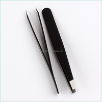 High quality wholesale stainless steel slant tip eyebrow tweezer