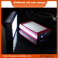 solar power bank shenzhen manufacturer 20000mah 30000mah external high quality lithium battery charger for tablets and notebook