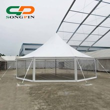 Octagonal transparent sidewalls marquee wedding tent peg and pole tent