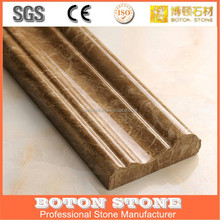 Light Brown Chinese Emperador Marble Stone Border and Line/marble stone border for building