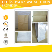 Waterproof three layers pp plastic laminated kraft paper bag packing for feeds powder 25kg