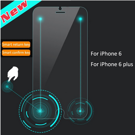 Unique Magic 2 smart keys smart touch tempered glass screen protector For iPhone 6 plus