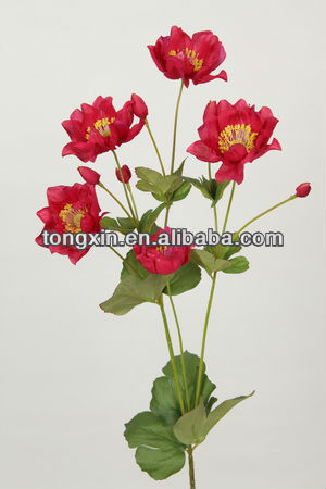 supplier real looking flower decoration artificial anemone flower