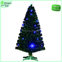 Top sale fiber optic christmas tree blue led fiber optic christmas tree wholesale plastic festival party decoration xmas tree
