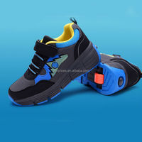 wheelys men roller skate shoes with retractable wheels for kids or adults sport running