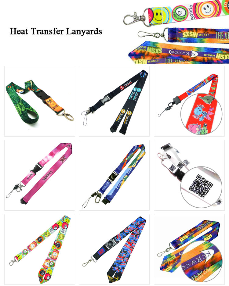 custom promotional exhibition visitor oval clip lanyard