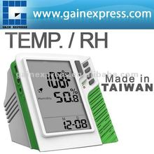 Portable Wall mount / Desktop Carbon Dioxide CO2 Temperature RH monitor w/ Clock display Made in Taiwan