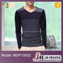 High Quality Cotton V-neck Knitting Sweater Men