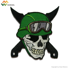 Custom heat seal embroidery MC patch for jacket
