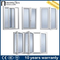 Australia standard thermal break aluminum frames american stype casement window with double pane for home