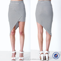 new china products for sale long tiered skirts striped asymmetrical wrap skirt