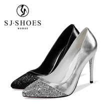 5528 Wholesale low price women high heel leather bridal wedding shoes