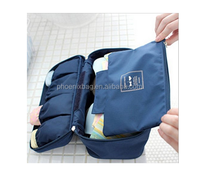 NEW Multi-functional Bra Underwear Travel Organizer Cosmetic Storage Bag (Navy)